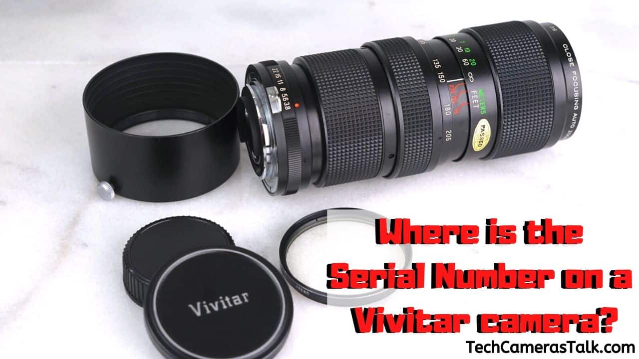 Where is the Serial Number on a Vivitar camera